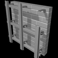 Усиленная оцинкованная фасадная система