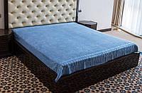 Простынь бамбуковая махровая Hanibaba Exclusive Bamboo голубая 200х220 см