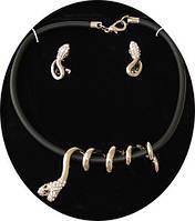 Набор (украшение на шею и серьги ) со змеями от Студии  www.LadyStyle.Biz, фото 1