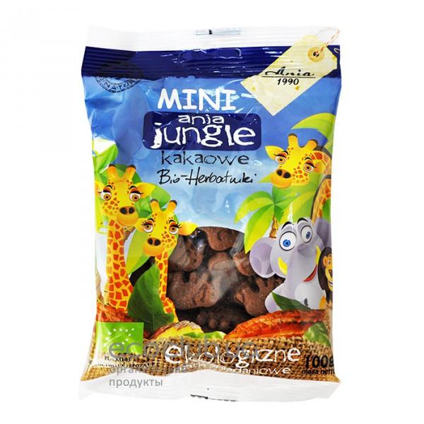 Печенье с какао Mini Jungle 100г