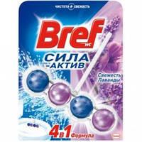 Туалетный блок Bref Сила Актив Свежесть Лаванды 50 г
