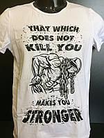 Мужская футболка №5  белая S, M, L, XL