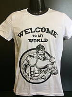 Мужская футболка №6  белая S, M, L, XL