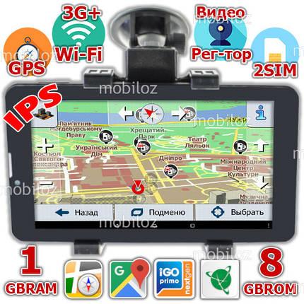 Мощный 3G GPS Навигатор Pioneer DVR700PI 2SIM 1GB + 8GB Android 5.1 + Подарки, фото 2