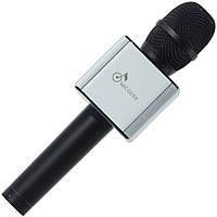 Универсальный микрофон Micgeek Q9 черный портативный для караоке вокала телефона смартфона планшета skype