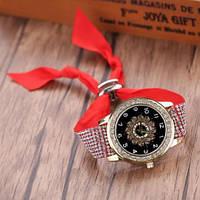 """Яркие часы на красном ремешке  """"Червовая дама"""" от студии LadyStyle.Biz, фото 1"""