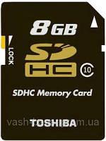 Карта памяти TOSHIBA SDHC 8 GB Class 10 ЯПОНІЯ!!!