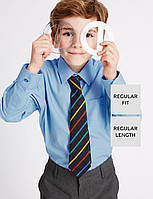 Школьная рубашка голубая с длинным рукавом на мальчика 5-6-7-8-9-10 лет Easy to Iron Marks&Spencer (Англия) , фото 1