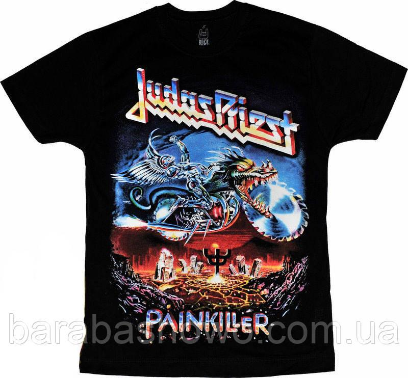 Рок футболка Judas Priest. Painkiller