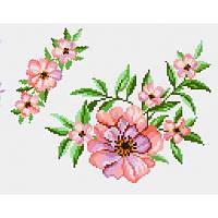 Водорастворимый флизелин с рисунком чайная роза