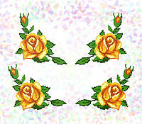 Водорастворимый флизелин с рисунком розы