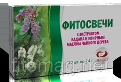 Фитосвечи с экстрактом бадана и эфирным маслом чайного дерева 10 шт