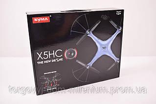 Квадролёт Syma X5HC с гироскопом , камера, свет, вращ. на 360гр., барометр, аккумулятор X5HC