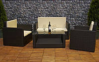 СУПЕРЦІНА! Меблі з штучного ротангу FURNIDE: диван + 2 крісла + столик