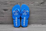 Вьетнамки Adidas, тапочки пляжные синие