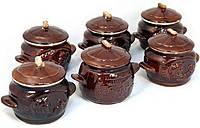 """Набор """"Чайная поэзия"""".6 шт. горшочков с чаем(вручную черный ферментирован в гранулы, 600 г)"""