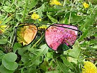 Солнцезащитные очки Dior Monster, цвет линз розовый