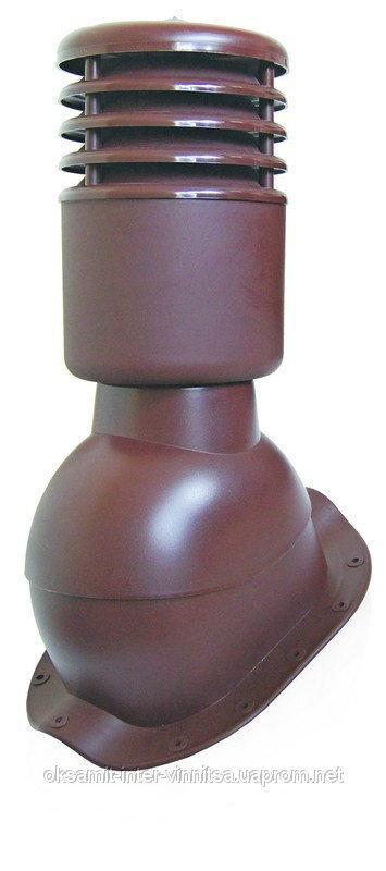 Вент выход утепленный с колпаком Kronoplast KBNO для металлочерепицы низкий профиль волна до 24 мм. - Оксамит Винница в Виннице