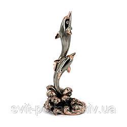 Статуэтка дельфины на волне E355