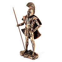 Статуэтка спартанского воина в доспехах с копьем TS1011
