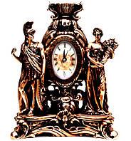 Часы каминные статуэтка  девушки и воина TS1404