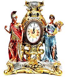 Часы для камина статуэтка воина и женщины PLS0412P-31A7-10