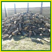 Сухие сосновые дрова колодами