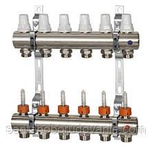 """Коллектор отопления с расходомерами 1"""" х 6 выходов ICMA(Икма)"""