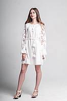 """Сукня жіноча """"Диво-квітка міні"""", білий колір, фото 1"""