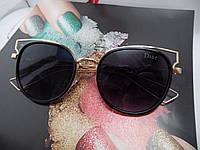 Модные солнцезащитные очки  Dior, черные