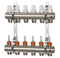 """Коллектор отопления с расходомерами 1"""" х 12 выходов ICMA(Икма)"""
