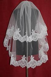 Фата, Amour Bridal, кружевная  белая, айвори.