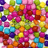 Пластиковые бусины, подвески  Цена за 20 грамм (прим. 45шт)
