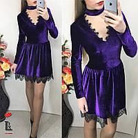 Женское платье бархатное