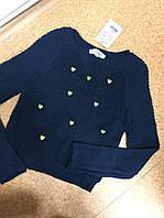 Женский свитер укороченный
