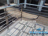 Балконные ограждения из н/ж стали. Изготовление и установка по всей Украине от 2 м.п.