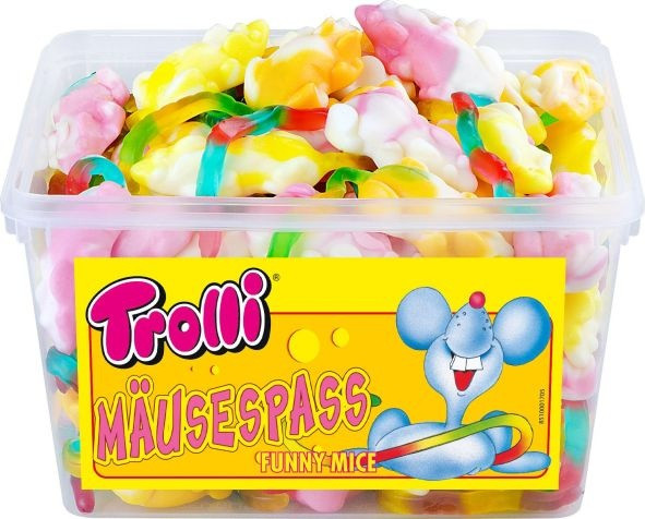 Жевательный мармелад Trolli Мышки, 1200 грамм