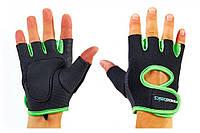 Перчатки для фитнеса женские FITNESS BASICS ВС-893-XL (неопрен, открытые пальцы, р. XL)
