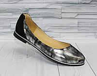 Стильные балетки. Открытые туфли. Натуральная кожа 1111
