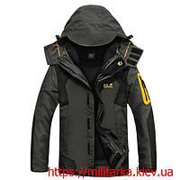 Куртка Jack Wolfskin зимняя с подстежкой серая