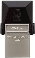 USB Flash Kingston DataTraveler MicroDuo OTG USB 3.0 64Gb Black