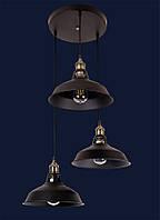 Светильник подвесной LOFT L526857-3 BK
