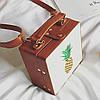 Модная каркасная сумка с ананасом, фото 4