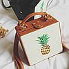 Модная каркасная сумка с ананасом, фото 3