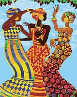 Рисование по номерам Идейка Танцующие африканки (KHO2642) 40 х 50 см (без коробки)