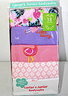 Набор бодиков Carters для девочек с коротким рукавом, возраст 18 месяцев.