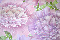 Обои бумажные, фиолетовые, крупные цветы, 778-04, 0,53*10м