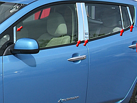 Хром накладки дверных стоек Nissan Leaf 2011-2017 10 позиций
