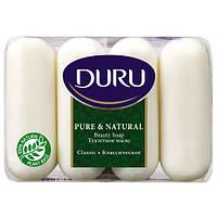 Туалетное мыло  Duru Pure & Natural Классическое 4х85 г