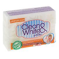 Хозяйственное мыло для стирки детских вещей Clean&White By Duru